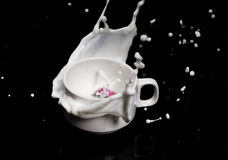 """Aardbei met melk кГ убР½ ика Ñ  Ð ¼ Ð ¾ Ð"""" Ð ¾ кР¾ Ð ¼ Stock Afbeelding"""