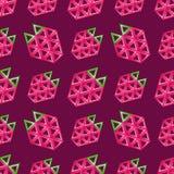 Aardbei naadloos patroon - vectortextuur vector illustratie