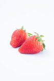 Aardbei op witte achtergrondfruit` s gezonde hartelijk, nuttig royalty-vrije stock afbeeldingen