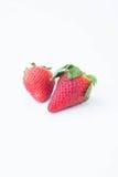 Aardbei op witte achtergrondfruit` s gezonde hartelijk, nuttig stock foto