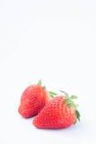 Aardbei op witte achtergrondfruit` s gezonde hartelijk, nuttig royalty-vrije stock fotografie