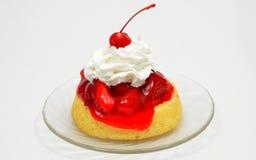 Aardbei Shortcake Royalty-vrije Stock Foto's