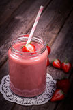 Aardbei smoothie Stock Foto