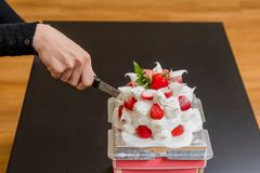 Aardbeicake, Dessert, Verjaardagscake, Moederdag, Verjaardagspartij vector illustratie