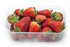 Aardbeien in de doos Stock Fotografie