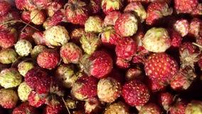 Aardbeien in de markt stock foto's