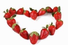Aardbeien in de vorm van een hart Royalty-vrije Stock Fotografie
