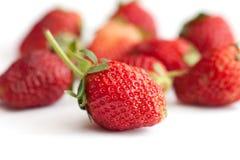 Aardbeien die op wit worden geïsoleerdg Stock Foto