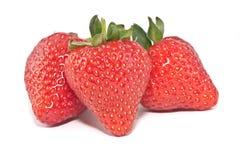 Aardbeien die op wit worden geïsoleerd Stock Fotografie