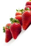 Aardbeien die op Wit worden geïsoleerda royalty-vrije stock fotografie