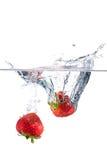 Aardbeien die op wit worden geïsoleerdu Royalty-vrije Stock Foto's