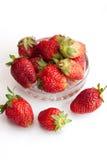 Aardbeien in een glaskop Royalty-vrije Stock Fotografie