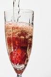 Aardbeien en champagne royalty-vrije stock afbeeldingen