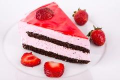 Aardbeien en chocolade. Royalty-vrije Stock Afbeeldingen