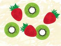Aardbeien en kiwien Royalty-vrije Stock Foto's
