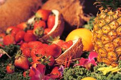 Aardbeien en meer Royalty-vrije Stock Foto