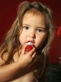 Aardbeien en ranselen-Room Stock Foto's