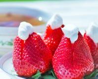 Aardbeien en Room Royalty-vrije Stock Afbeeldingen