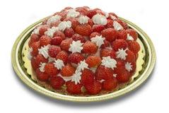 Aardbeien en Slagroom Stock Afbeeldingen