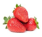 Aardbeien Geïsoleerd op een witte achtergrond Stock Foto