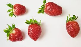 Aardbeien in macromening royalty-vrije stock foto's