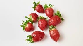 Aardbeien in macromening royalty-vrije stock afbeelding