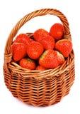Aardbeien in Mand Royalty-vrije Stock Fotografie