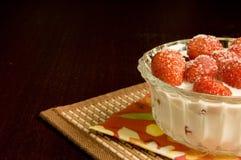 Aardbeien met room Royalty-vrije Stock Afbeelding