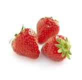 Aardbeien op een witte achtergrond Royalty-vrije Stock Afbeelding