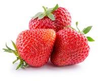 Aardbeien op een witte achtergrond Stock Foto