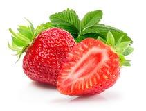 Aardbeien op een witte achtergrond Royalty-vrije Stock Foto's