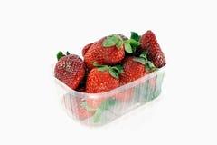 Aardbeien op wit Royalty-vrije Stock Foto's