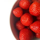 Aardbeien op wit Stock Foto