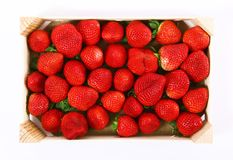 Aardbeien op witte achtergrond Royalty-vrije Stock Afbeeldingen
