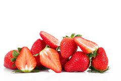 Aardbeien op witte achtergrond Stock Foto