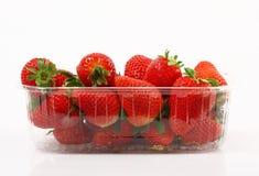 Aardbeien op witte achtergrond Royalty-vrije Stock Fotografie