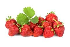 Aardbeien op witte achtergrond Stock Fotografie