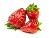 Aardbeien op witte achtergrond Royalty-vrije Stock Afbeelding