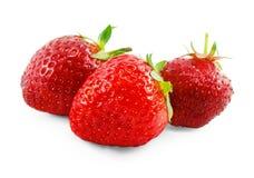 Aardbeien op witte achtergrond worden geïsoleerd die Royalty-vrije Stock Fotografie