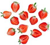 Aardbeien op witte achtergrond worden geïsoleerd die Royalty-vrije Stock Foto