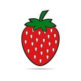Aardbeifruit op witte achtergrond Royalty-vrije Stock Afbeelding