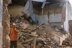 Aardbeving in Chili, 2010 27 Februari stock foto