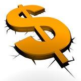 Aardbeving en geld stock illustratie