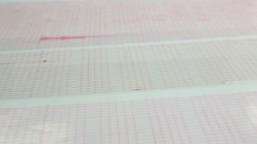 Aardbevingsgolf op een millimeterpapier panning stock footage