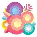 Aarddecor en kleurenspiraal voor ontwerp biz kaart Stock Afbeeldingen