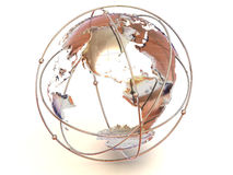 Aarde. 3d Royalty-vrije Stock Foto