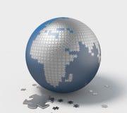 Aarde, 3D Raadsel royalty-vrije illustratie