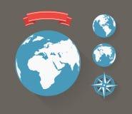 Aarde abstracte illustratie Royalty-vrije Stock Afbeeldingen