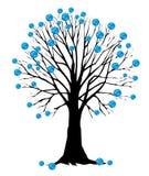 Aarde als blad op een boom Stock Fotografie