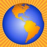 Aarde Australië-Nieuw Zeeland-Azië royalty-vrije illustratie